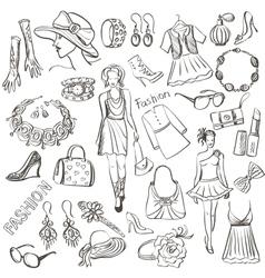 Hand drawn Fashion vector image vector image