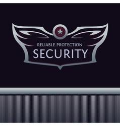 Heraldic logo with wings star vector