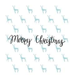 Merry Christmas lettering design Handmade vector image