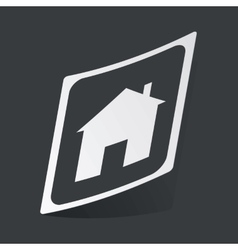 Monochrome house plate sticker vector