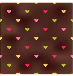 Seamless heart pattern background vector image vector image