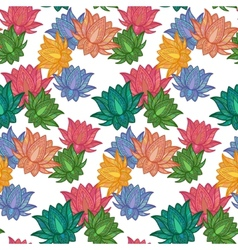 Seamless Pattern Lotus vector image vector image