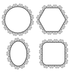 Set of Circle Decorative Frames vector image vector image