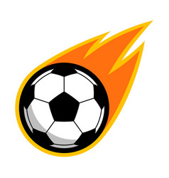 sport ball fire soccer vector image