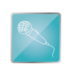 symbol microphone instrument icon vector image