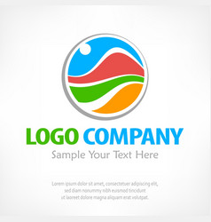 travel logo color vector image vector image