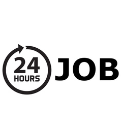 24 Hours job vector image