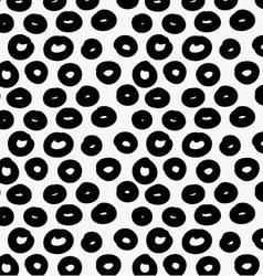 Black marker drawn simple donuts vector image