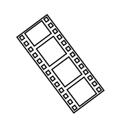 Tape record cinema isolated icon vector