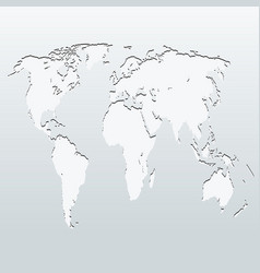 World map on a gray background vector
