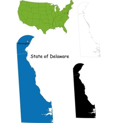 Delaware map vector image