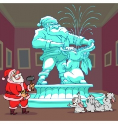 Santa Claus sculpture vector image