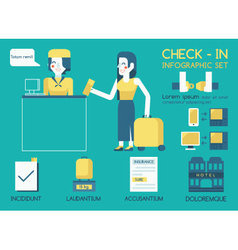 Check in info graphic vector
