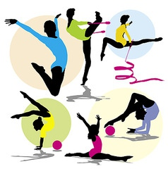 Set rhitmic gymnastics vector