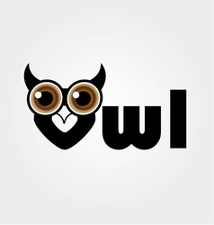 Owl- a symbol of wisdom vector