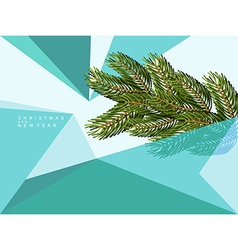 Christmas abstract background of geometric shapes vector