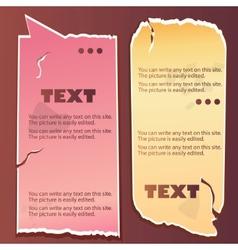 vintage paper speech bubble vector image