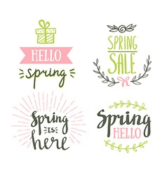 Hand drawn spring lettering easter holidays vector