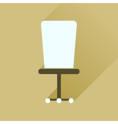 Flat icon with long shadow office chair vector