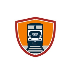 Diesel train freight rail crest retro vector