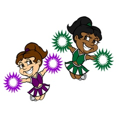 Cheerleader girls vector