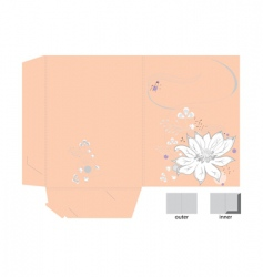 Decorative bag with white flower vector