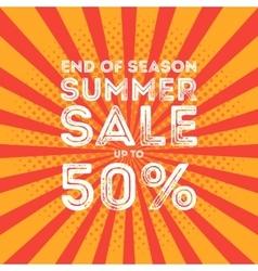 End of season summer big sale banner vector image vector image