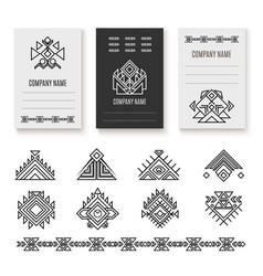 ethnic corporate brochure template vector image vector image
