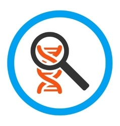 Explore Dna Rounded Icon vector image