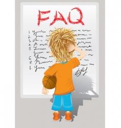 Faq little boy vector