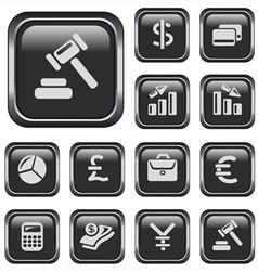 Finance buttons vector
