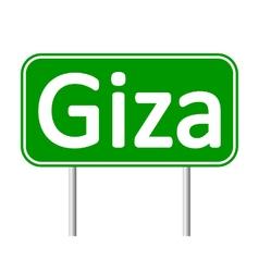 Giza road sign vector