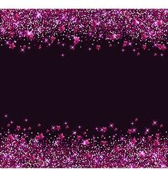 Glitter star background vector