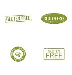Gluten Free labels vector image vector image