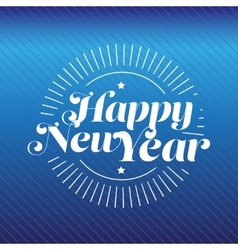 Happy new year lettering gold vector