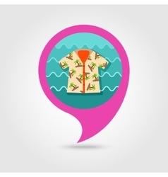 Hawaiian shirt palm tree pin map icon vacation vector
