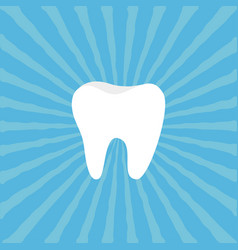 Healthy tooth icon oral dental hygiene children vector