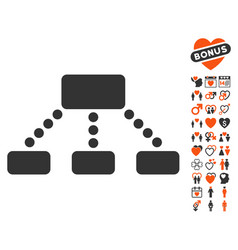 Hierarchy icon with dating bonus vector