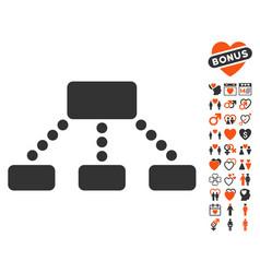 hierarchy icon with dating bonus vector image