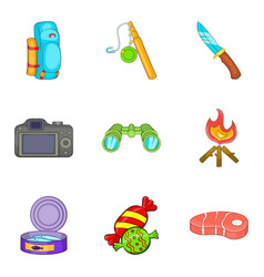 Huntsman icons set cartoon style vector