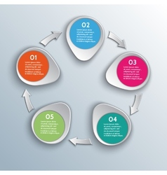infographic workflow design elements with arrows vector image