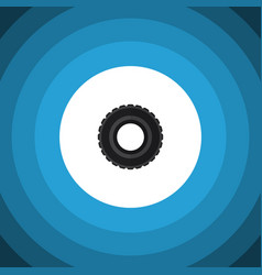 Isolated tire flat icon wheel element can vector