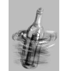 Letter in a bottle vector