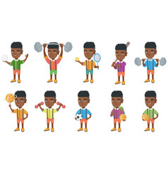 little african boy set vector image
