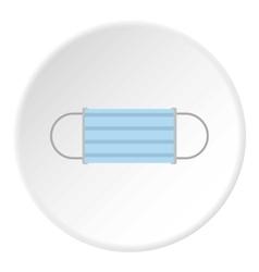 Medical mask icon flat style vector image