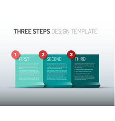 one two three - paper progress steps options vector image