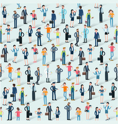 people crowd eamless vector image vector image