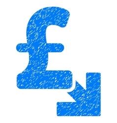 Pound decrease grainy texture icon vector
