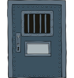 prison door vector image