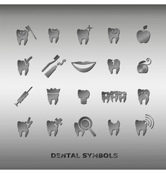 Set of dentistry symbols vector